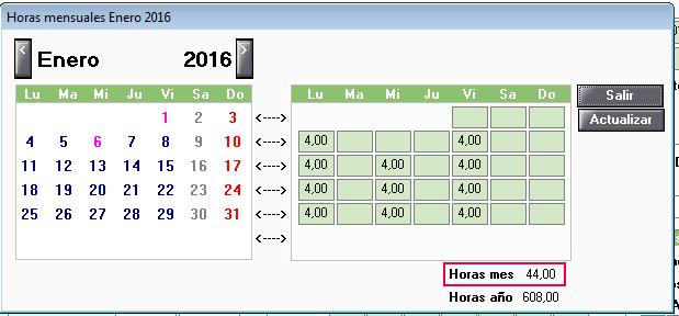 horas mensuales enero