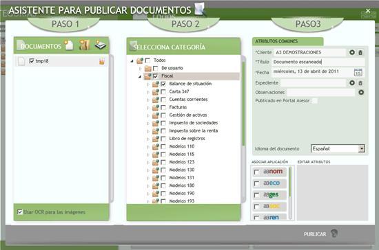 Asistente para publicar documentos