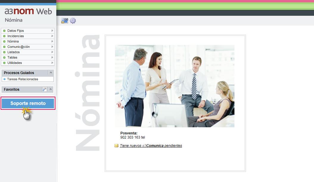 soporte remoto nominaweb