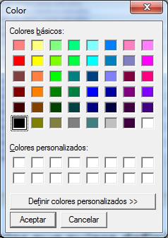 gamma de colores