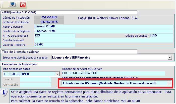 Autentificación Windows (Mediante Nombre de Usuario de la red)