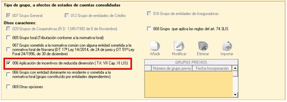 006 Aplicación de incentivos de reducida dimensión(Tit. VIICap. XI LIS)