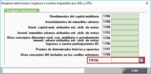 Desglose retenciones e ingresos a cuenta imputados por AIEs y UTEs Automático