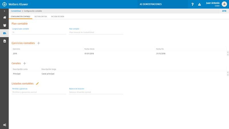 Configuración contable configurada