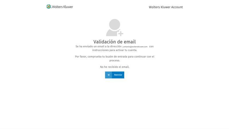 Validación de email del colaborador