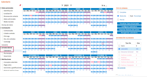 calendario laboral nw