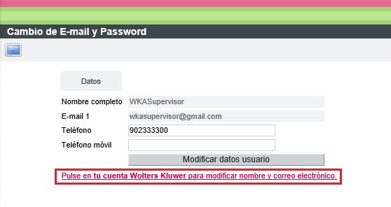 WKA Equipo configurar cuenta WK