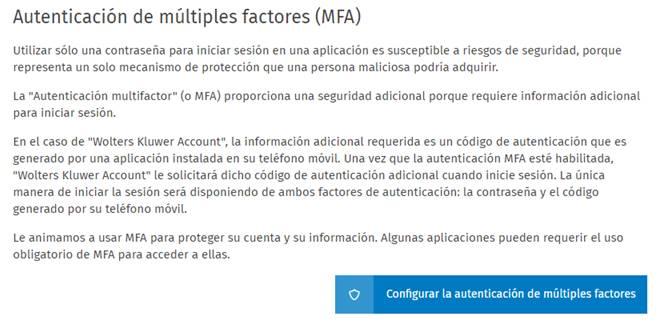 Autenticación de múltiples factores (MFA)
