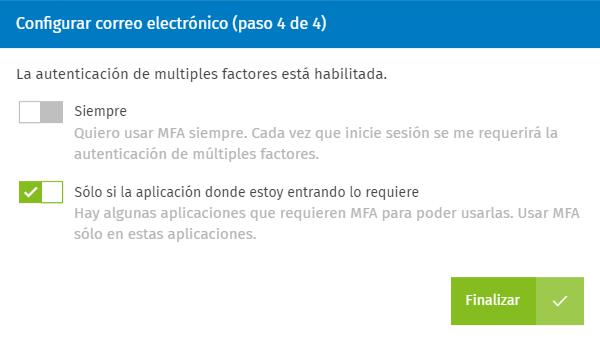 AAA Configurar MFA