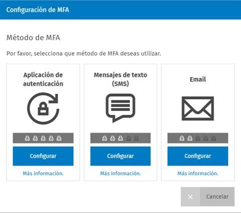 Configuración de MFA