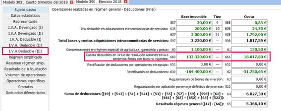 IVA deducible III