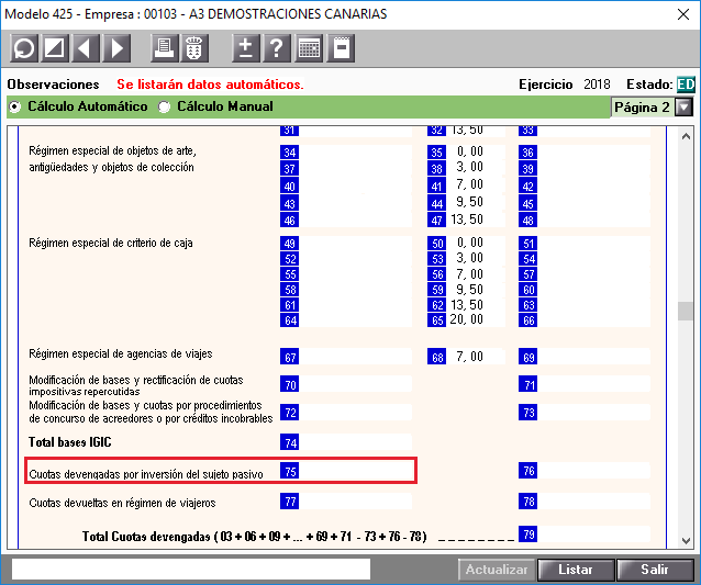 425 Pagina 2 Base Imponible de las operaciones con inversion del sujeto pasivo