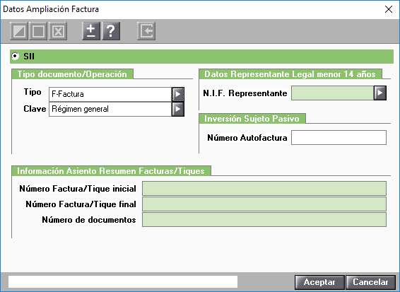 Datos Ampliacion Factura Canarias