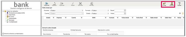 configuración y usuario