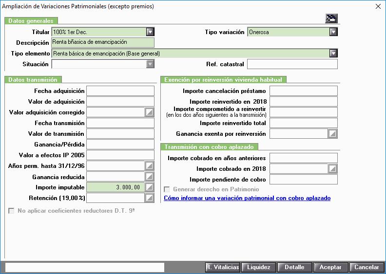 VO Renta emancipación Base General