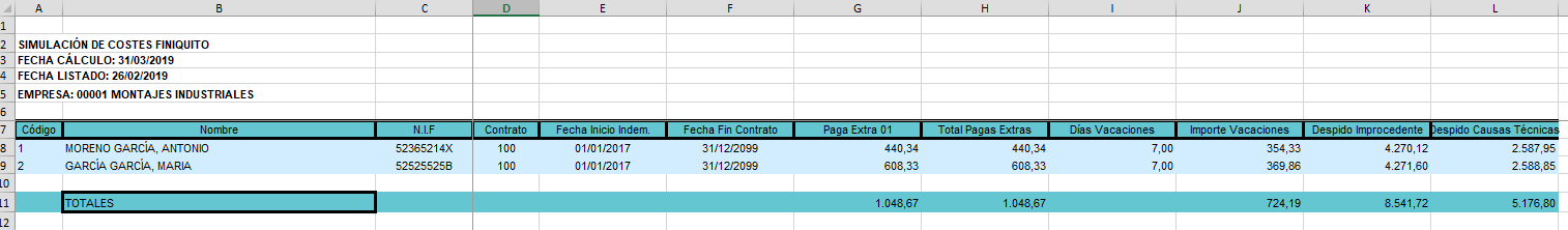 excel finiquitos masivos