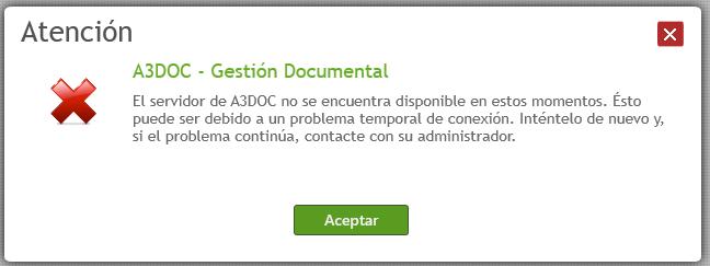 a3doc cloud no se encuentra disponible