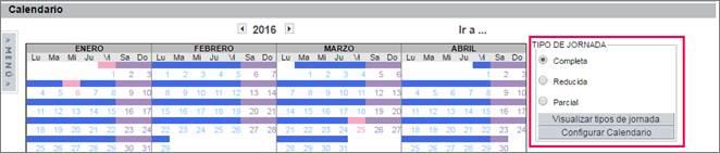 configurar calendario