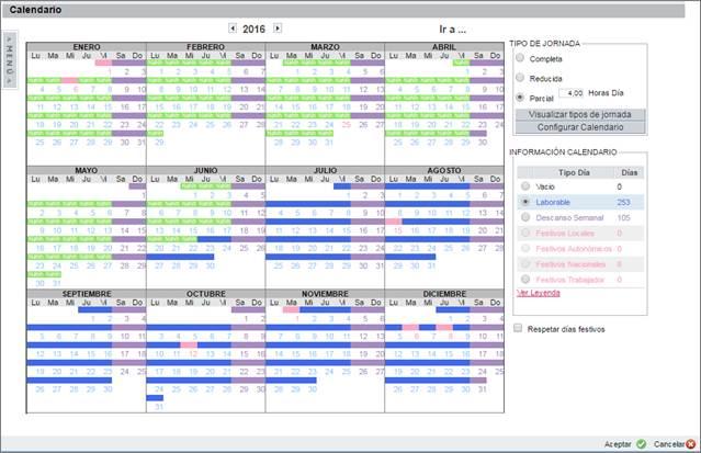 calendario cambio jornada