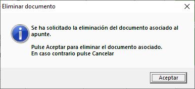Mensaje de confirmacion para eliminar documento