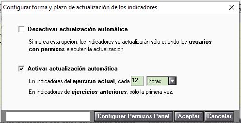 configurar actualizacion