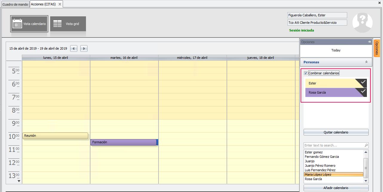 combinar calendarios