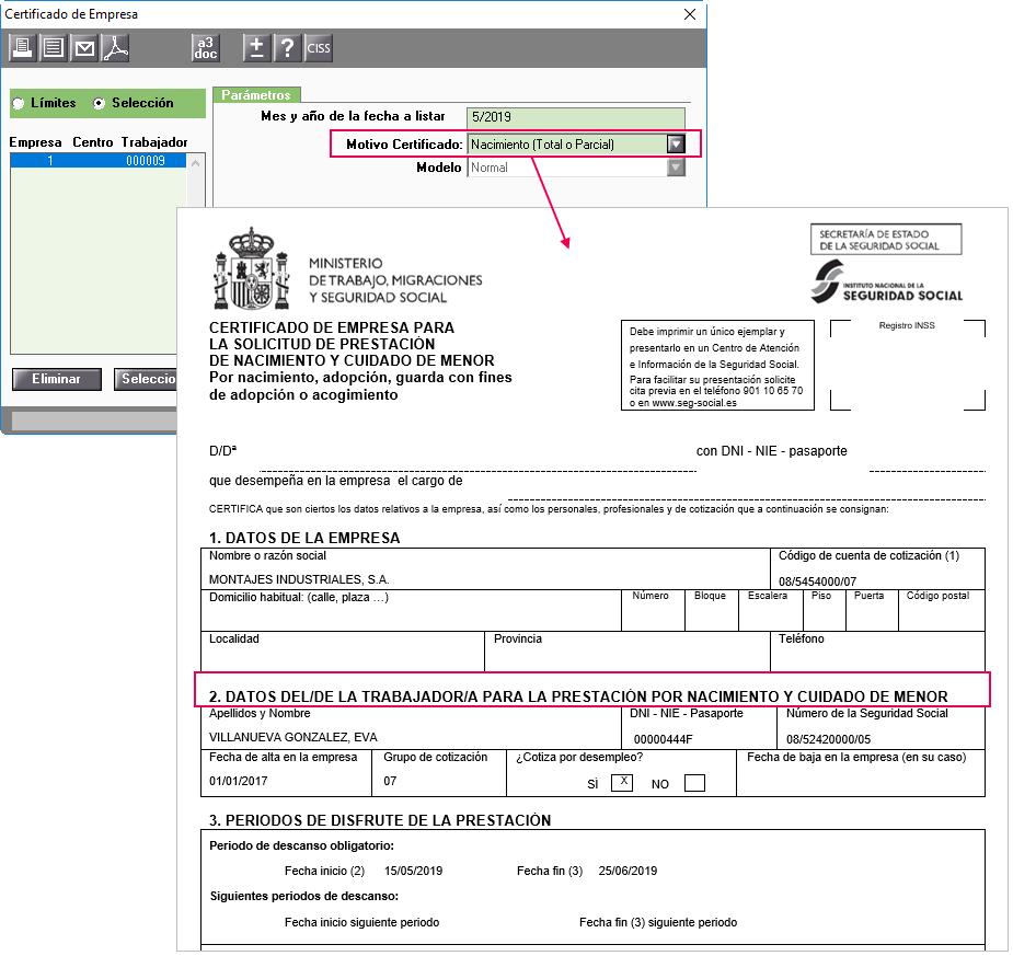 certificado nacimiento papel