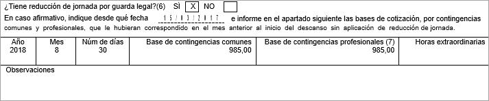 certificado nacimiento reduccion jornada Guarda Legal