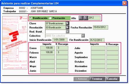 Asistente complementarias L04