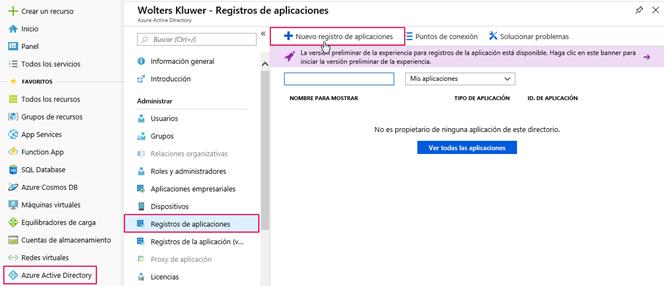 registro aplicaciones
