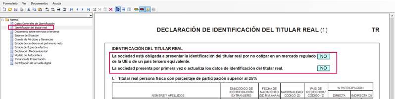 identificación del titular real
