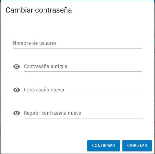 cambiar password