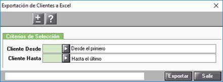 Exportación de Clientes a Excel