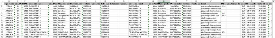 Excel: Exportar Clientes