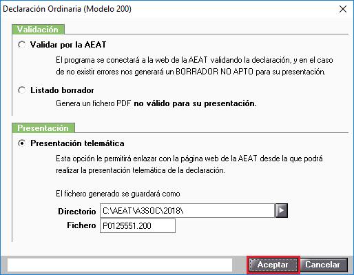 Modelo 200 Presentacion Telematica