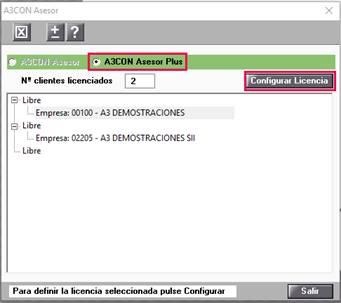 Configurar licencia
