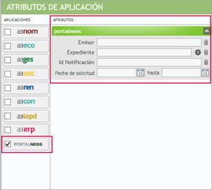 Atributos de Aplicacion