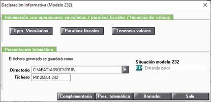 Datos modelo 232