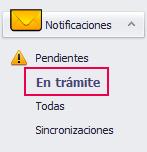 notificaciones en tramite