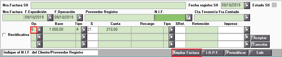 Datos de IVA