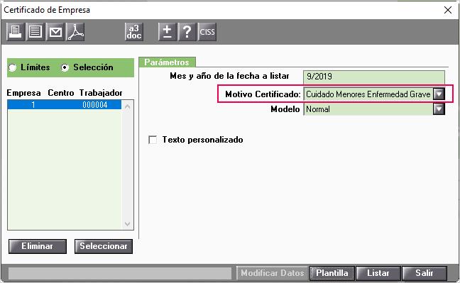 certificado papel cuidado menor