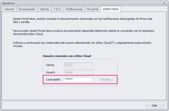contrasena a3doc cloud