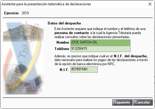 Asistente presentacion telematica declaraciones
