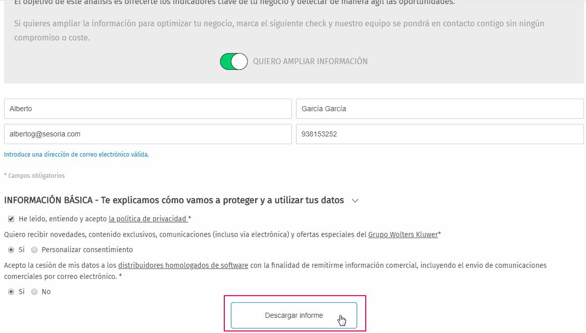 formulario descargar informe
