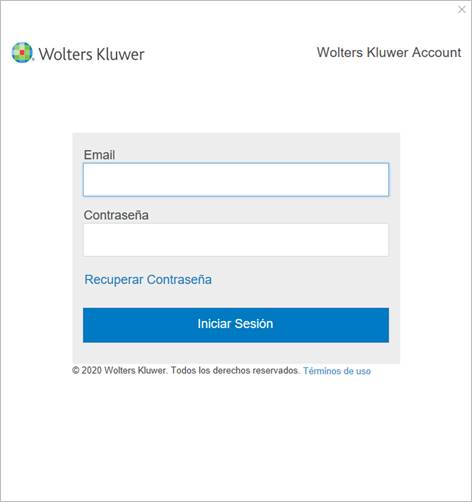datos de acceso cuenta wolters kluwer