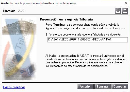 Presentacion en al AEAT