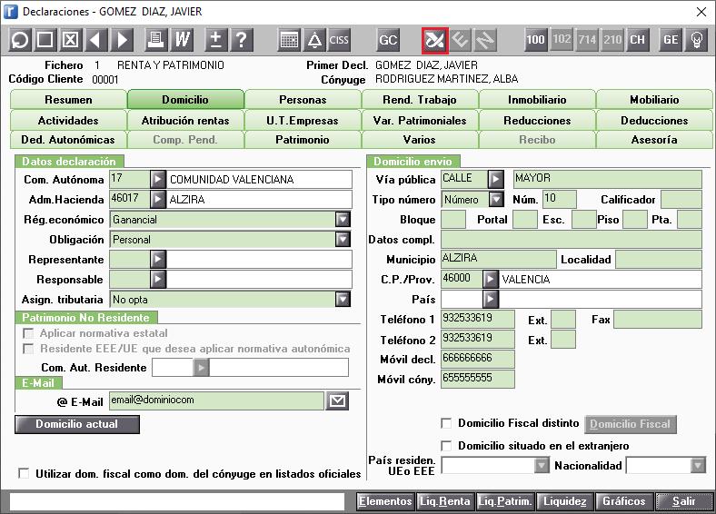 Mantenimiento de Declaraciones Servicios disponibles en la AEAT