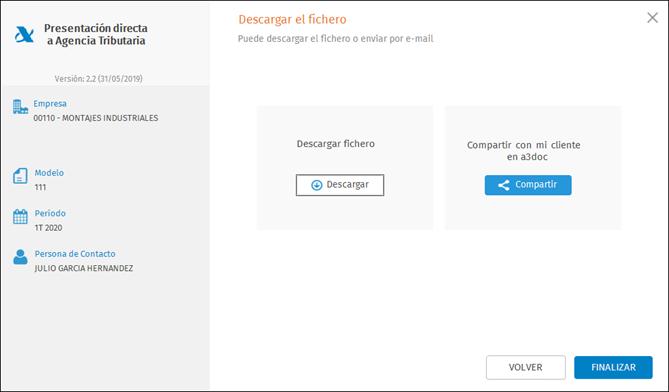 opciones descargar fichero