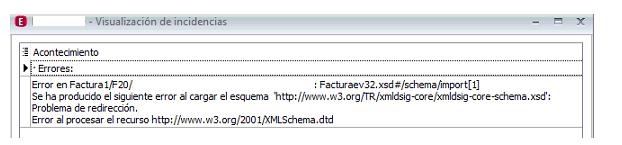 XML Visualizacion de incidencias