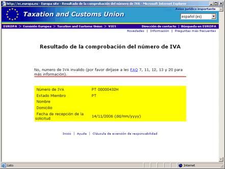 Página Web de la Comisión Europea